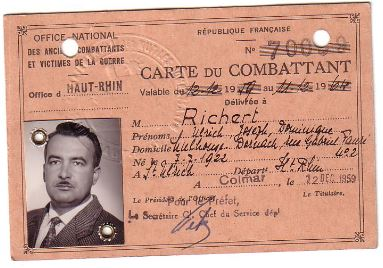 Richert carte du combattant